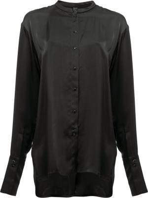 Рубашка без воротника Ilaria Nistri. Цвет: чёрный