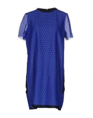 Короткое платье BAND OF OUTSIDERS. Цвет: синий