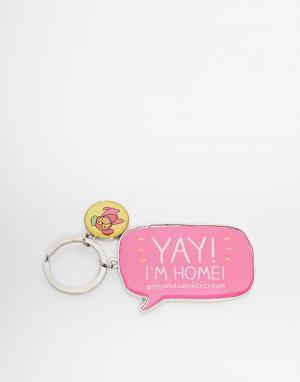Happy Jackson Брелок Yay Im Home. Цвет: розовый