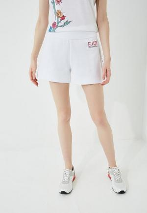 Шорты спортивные EA7. Цвет: белый