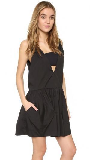 Платье с карманом и глубоким V-образным вырезом Milly. Цвет: голубой