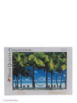 Пазл Острова Кука, 1500 эл. Clementoni. Цвет: серый, голубой, зеленый