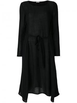Платье с поясом Apuntob. Цвет: синий