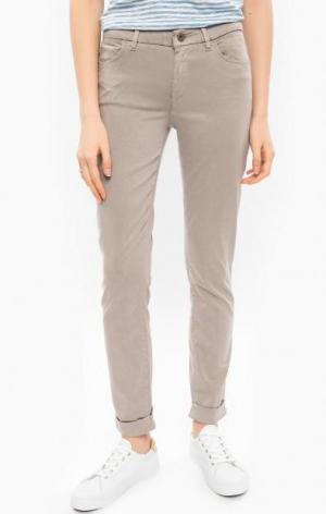 Зауженные брюки с отворотами Marc O'Polo. Цвет: серый
