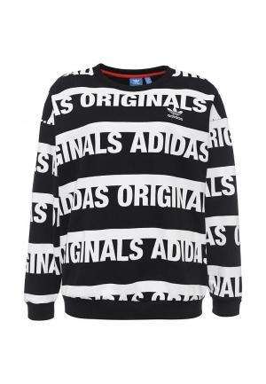 Свитшот adidas Originals. Цвет: черно-белый