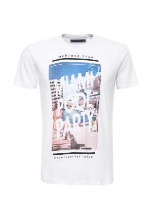 Футболка Piazza Italia. Цвет: белый