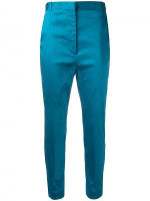 Укороченные брюки Haider Ackermann. Цвет: синий