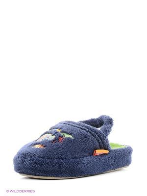 Тапочки детские Dream Feet. Цвет: синий