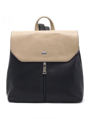 Рюкзак Solo true bags. Цвет: черный, темно-бежевый
