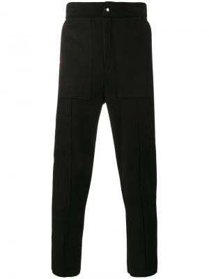 Структурированные зауженные брюки Lot78. Цвет: чёрный
