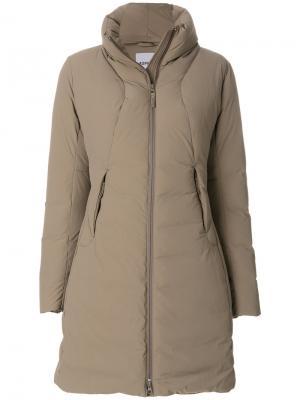Дутое пальто Aspesi. Цвет: серый