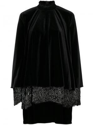 Платье Novize1 Talbot Runhof. Цвет: чёрный