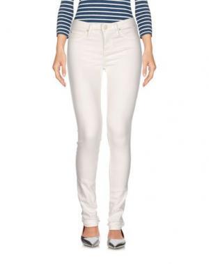Джинсовые брюки LEE. Цвет: белый