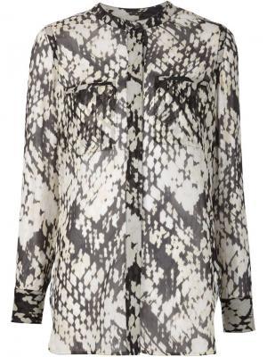 Блузка с плетеным принтом Vince. Цвет: чёрный