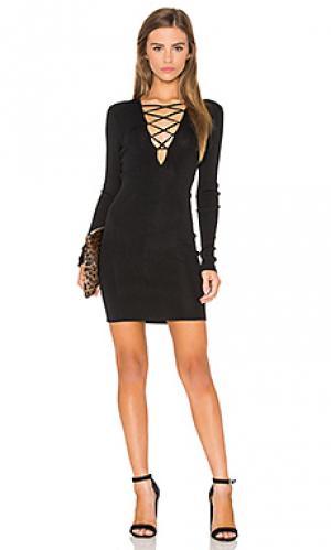 Платье свитер 360 Sweater. Цвет: черный