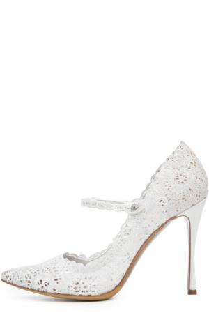 Кружевные туфли Raleigh на шпильке Tabitha Simmons. Цвет: белый
