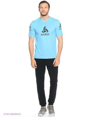 Футболка Odlo. Цвет: голубой