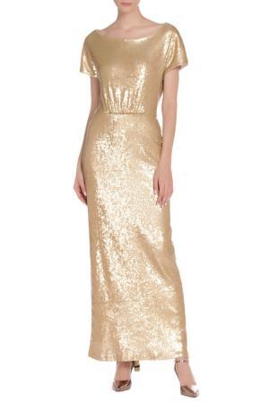 Платье с поясом Von Vonni. Цвет: золотой
