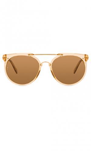 Солнцезащитные очки stateline Wonderland. Цвет: металлический золотой