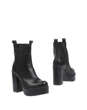 Полусапоги и высокие ботинки GENEVE. Цвет: черный