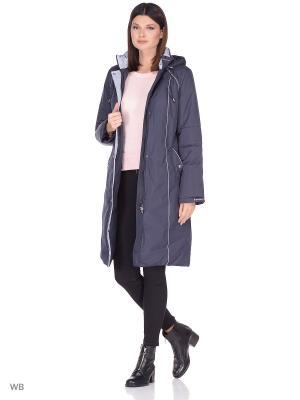 Пальто SILVIA Maritta. Цвет: синий