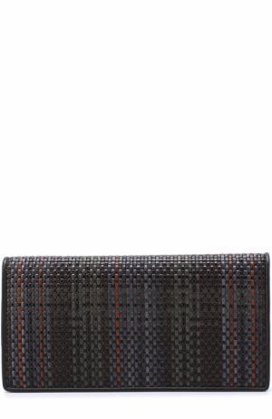 Кожаный бумажник с отделениями для кредитных карт и монет Zegna Couture. Цвет: разноцветный