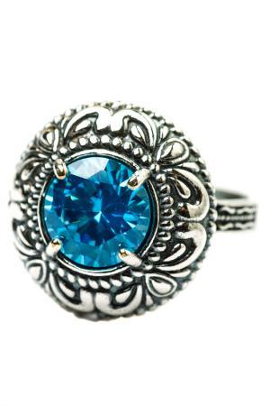 Кольцо FRANSUA ARDY. Цвет: голубой