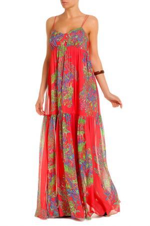Платье Halston Heritage. Цвет: розовый