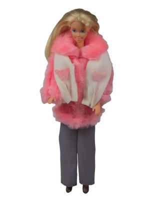Комплект для куклы 29 см: полушубок, брюки и шарфик Модница.. Цвет: розовый