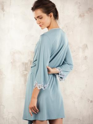 Халат  valencia home comfort croisette. Цвет: голубой
