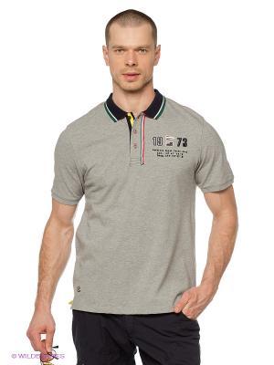Футболка-поло M Troy Baumwoll Polo Shirt grey melange Northland Professional. Цвет: серый меланж, темно-синий