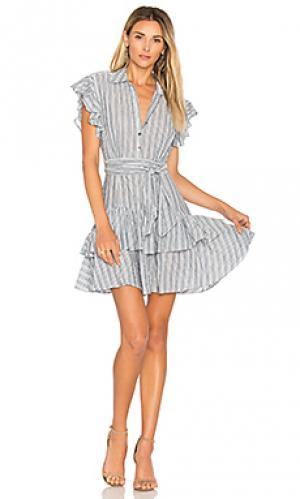 Платье в полоску Rebecca Taylor. Цвет: синий