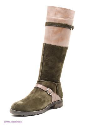 Сапоги Mario Ponti. Цвет: хаки, светло-коричневый