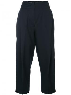 Зауженные брюки с завышенной талией Jil Sander. Цвет: чёрный