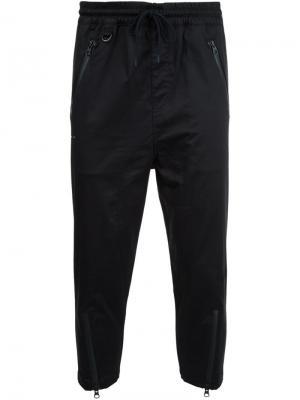 Укороченные брюки с молниями Publish. Цвет: чёрный