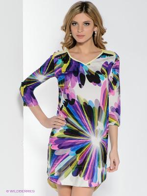 Платье CATHERINE'S. Цвет: фиолетовый, белый, голубой