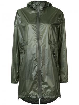 Удлиненная куртка с капюшоном Canada Goose. Цвет: зелёный