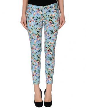 Повседневные брюки BONSUI. Цвет: небесно-голубой