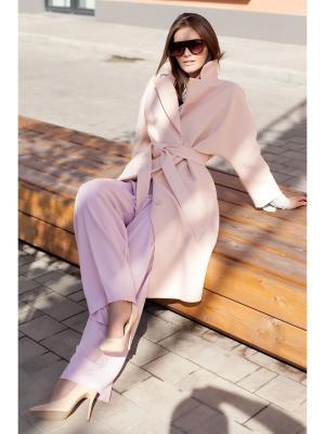 Пальто RUXARA. Цвет: персиковый