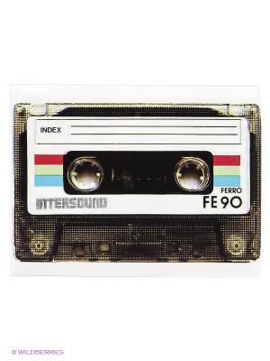 Обложка на зачетную книжку Ретро-кассета Kawaii Factory. Цвет: коричневый