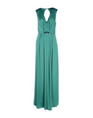 Длинное платье PATRIZIA PEPE SERA. Цвет: изумрудно-зеленый
