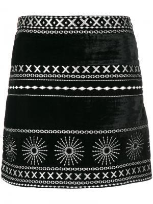 Мини-юбка с принтом Dodo Bar Or. Цвет: чёрный