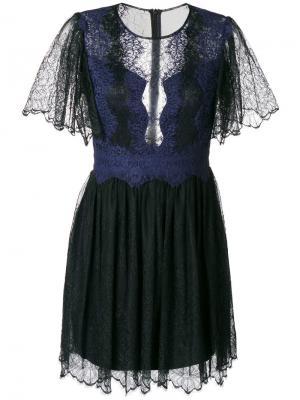 Кружевное платье Foxglove Three Floor. Цвет: чёрный