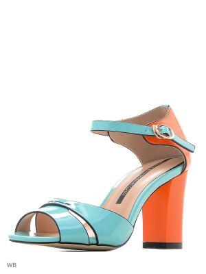 Туфли TEETSPASE. Цвет: голубой, оранжевый