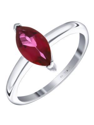Кольцо Teosa. Цвет: малиновый