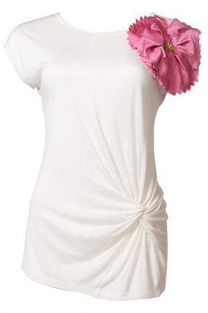 Блуза Apart. Цвет: белый, розовый