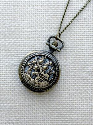 Кулон-часы Изумрудный город (средний) Mitya Veselkov. Цвет: бронзовый