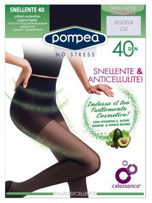 Колготки поддерживающие с косметическим и антицеллюлитным эффектом SNELLENTE 40 POMPEA. Цвет: черный