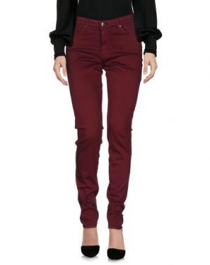 Повседневные брюки AG ADRIANO GOLDSCHMIED. Цвет: красно-коричневый
