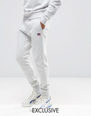 Russell Athletic Суперузкие джоггеры. Цвет: серый